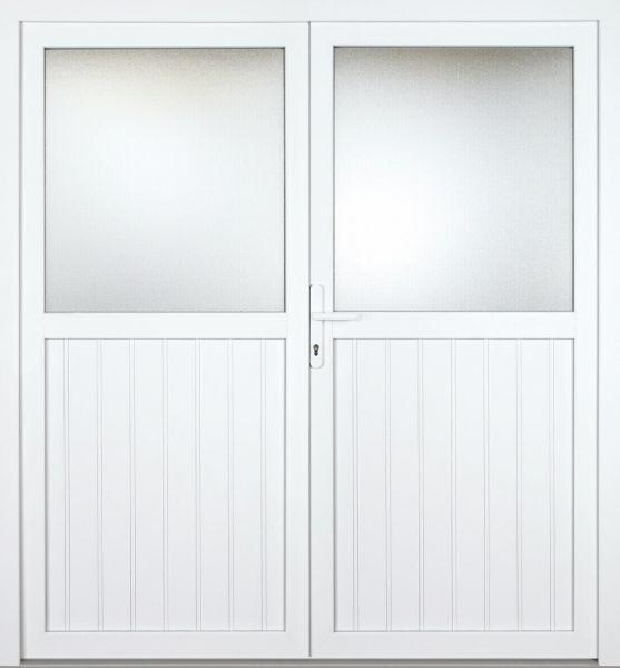 """Kunststoff Nebeneingangstür """"STEFANIE"""" 60mm 2-flügelig Doppeltür symmetrisch"""