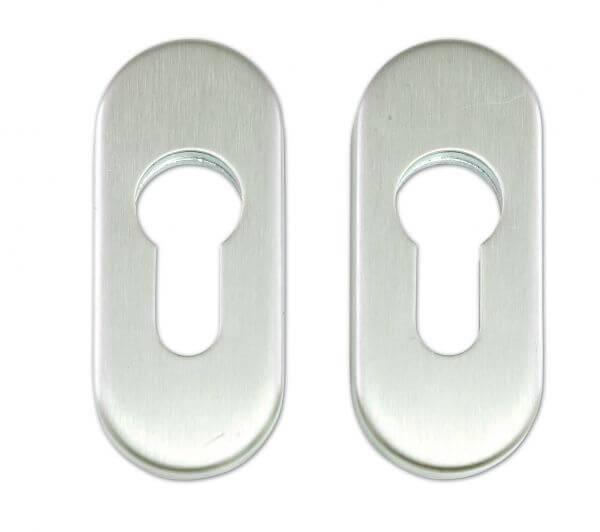 Zylinderrosette Edelstahl (Silber, Paar)