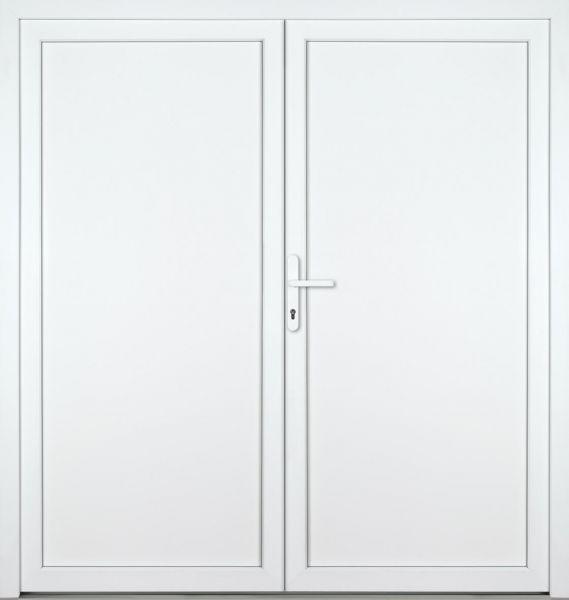 """Kunststoff-Aluminium Nebeneingangstür """"DIANA"""" 70mm 2-flügelig Doppeltür symmetrisch"""