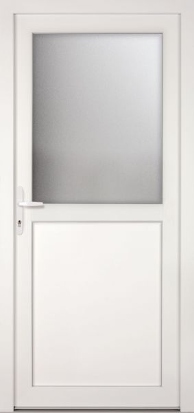 "Kunststoff-Aluminium Nebeneingangstür ""PAULA-M"" 74mm"