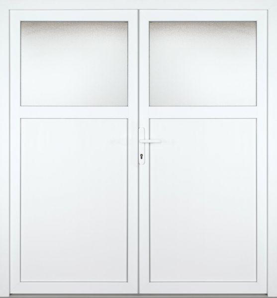 """Kunststoff Nebeneingangstür """"ANTONIA"""" 60mm 2-flügelig Doppeltür symmetrisch"""