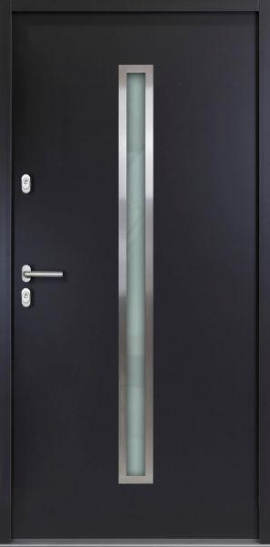 """Aluminium-Stahl Nebeneingangstür """"SAMIA"""" Anthrazit 56mm"""
