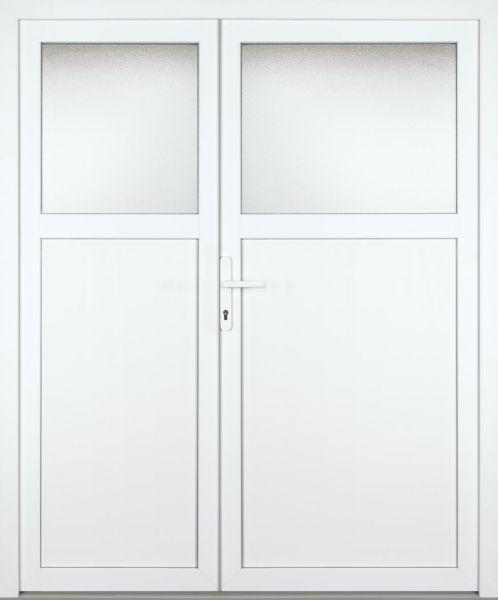 """Kunststoff Nebeneingangstür """"ANTONIA-M"""" 60mm 2-flügelig Doppeltür asymmetrisch"""