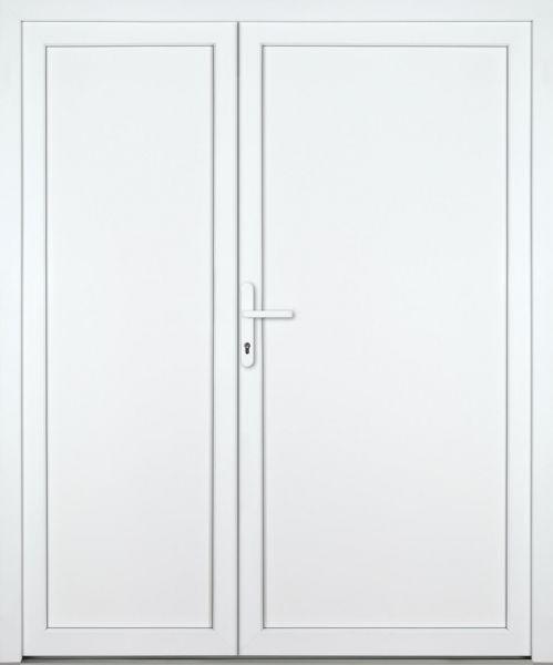 """Kunststoff Nebeneingangstür """"DIANA-M"""" 70mm 2-flügelig Doppeltür asymmetrisch"""