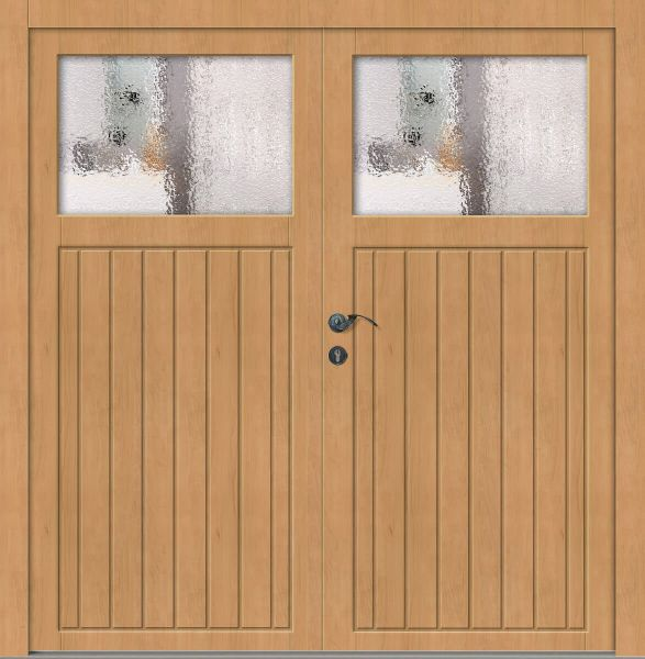 "Holz Nebeneingangstür ""ELSA"" 56mm 2-flügelig Doppeltür symmetrisch"