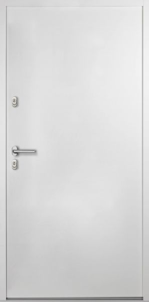 "Aluminium-Stahl Nebeneingangstür ""BELIN"" Weiß 56mm"