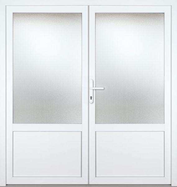 """Kunststoff Nebeneingangstür """"CELINE-M"""" 60mm 2-flügelig Doppeltür symmetrisch"""